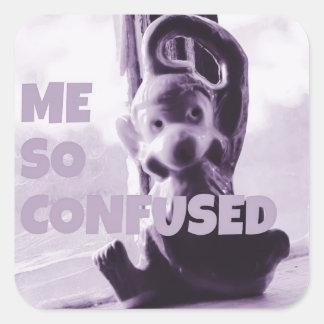 Sticker Carré J'a ainsi confondu l'autocollant de singe par le