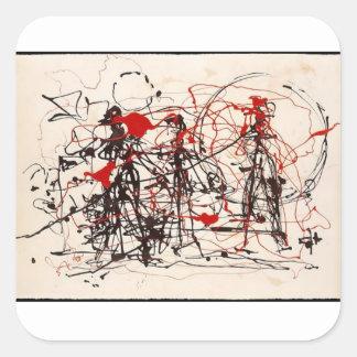 Sticker Carré Jackson Pollock sans titre