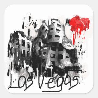 Sticker Carré J'aime Las Vegas
