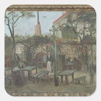 Sticker Carré Jardins de plaisir de Vincent van Gogh | chez