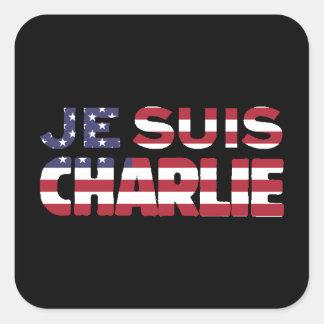 Sticker Carré Je Suis Charlie - je suis des étoiles de Charlie