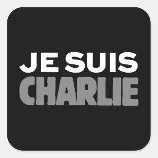 Sticker Carré Je Suis Charlie - je suis noir de Charlie