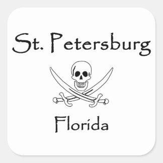 Sticker Carré Jolly roger de St Petersburg la Floride