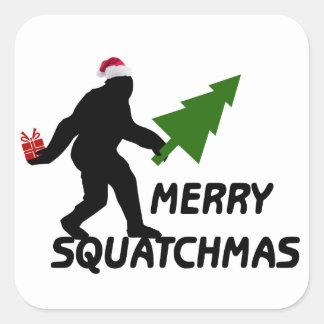 Sticker Carré Joyeux Squatchmas