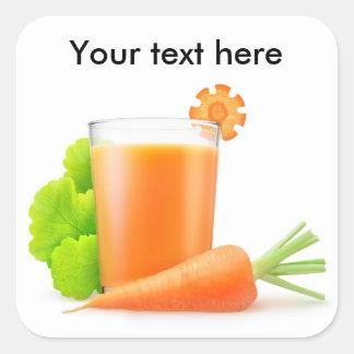 Sticker Carré Jus de carotte frais