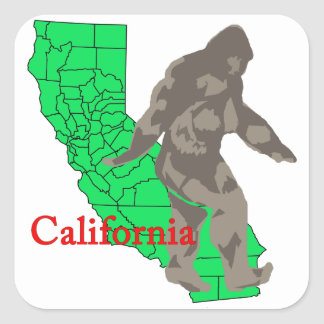 Sticker Carré La Californie Bigfoot