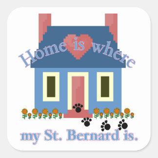 Sticker Carré La maison de ST BERNARD est