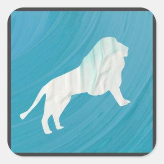 Sticker Carré La majesté 1 du lion [encadrée]