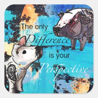 Sticker Carré La seule différence est votre perspective