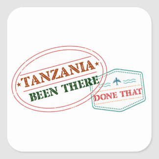 Sticker Carré La Tanzanie là fait cela