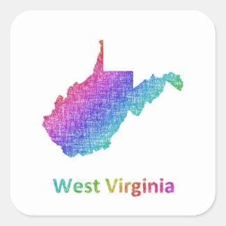 Sticker Carré La Virginie Occidentale
