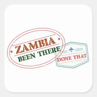 Sticker Carré La Zambie là fait cela