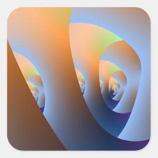 Sticker Carré Labyrinthe dans l'autocollant carré orange et de