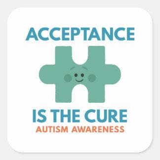 Sticker Carré L'acceptation est le traitement