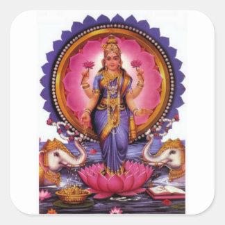 Sticker Carré Lakshmi - déesse de la richesse, du bonheur, et de