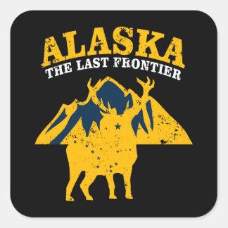 Sticker Carré L'Alaska la dernière frontière