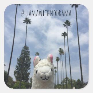 Sticker Carré Lama sans l'autocollant de LA de drame