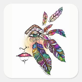 Sticker Carré L'amour d'OEIL FAIT VARIER LE PAS de l'art