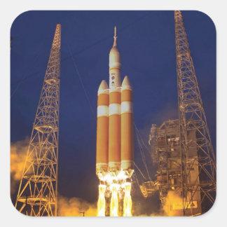 Sticker Carré Lancement de Rocket de vaisseau spatial de la NASA