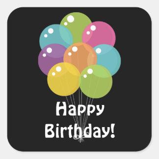 Sticker Carré L'anniversaire monte en ballon l'autocollant