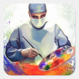 Sticker Carré L'art de la médecine