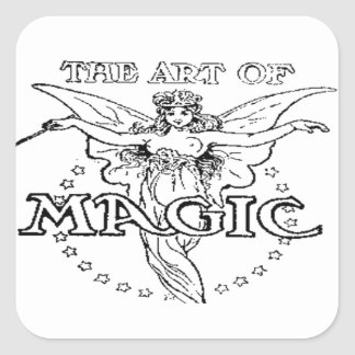 Sticker Carré l'art de noir et blanc magique
