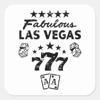 Sticker Carré Las Vegas