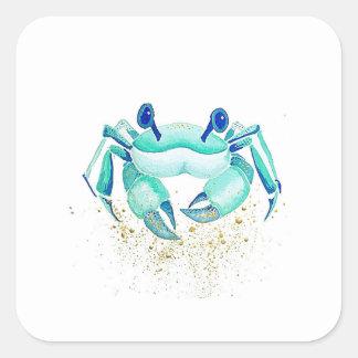 Sticker Carré Le crabe de Neptune