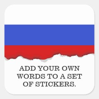 Sticker Carré Le drapeau du Russe