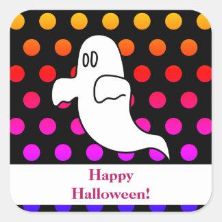 Sticker Carré Le fantôme badine Halloween