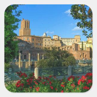 Sticker Carré Le forum de Trajan, Traiani, Roma, Italie