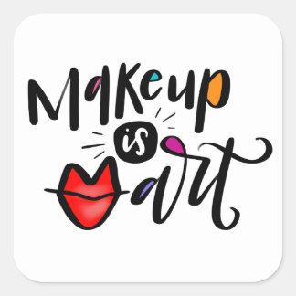 Sticker Carré Le maquillage est art