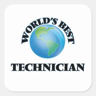 Sticker Carré Le meilleur technicien du monde
