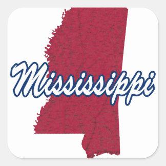 Sticker Carré Le Mississippi