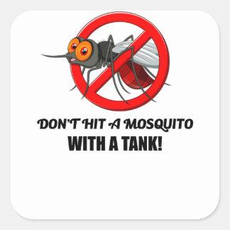 Sticker Carré le moustique ne le frappent pas avec un réservoir