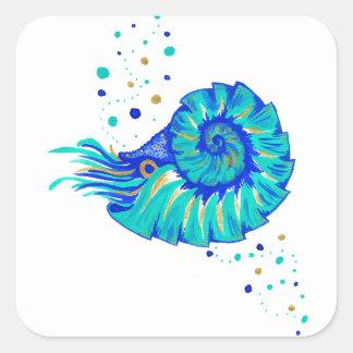 Sticker Carré Le Nautilus de Neptune