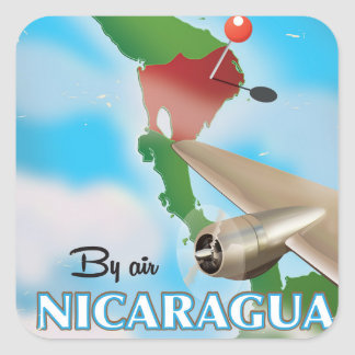 Sticker Carré Le Nicaragua par l'affiche de vacances d'air
