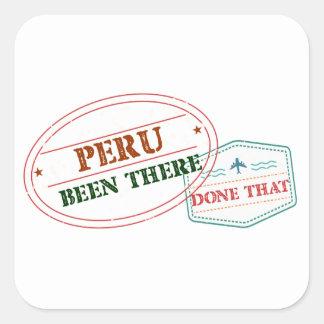 Sticker Carré Le Pérou là fait cela