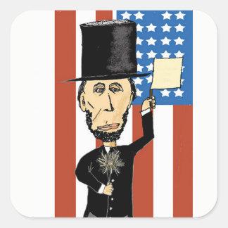 Sticker Carré Le Président Lincoln Rectangle Stickers, brillant