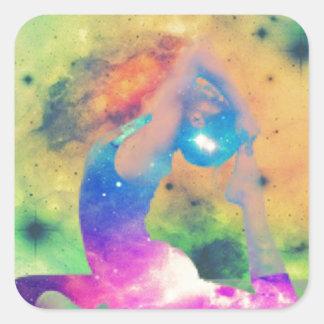 Sticker Carré Le Roi Pigeon Yoga Series d'univers