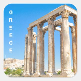Sticker Carré Le temple de Zeus olympien à Athènes, Grèce