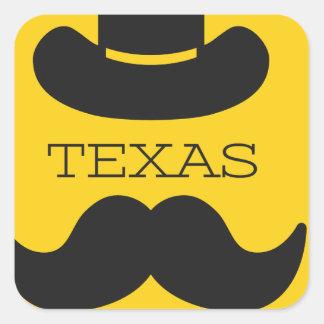Sticker Carré Le Texas en jaune