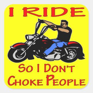 Sticker Carré Le tour de cycliste I ainsi moi n'obstruent pas