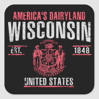 Sticker Carré Le Wisconsin