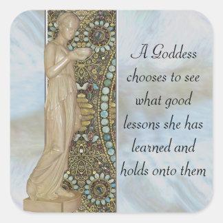 Sticker Carré Leçons de déesse