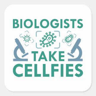 Sticker Carré Les biologistes prennent Cellfies