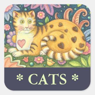 Sticker Carré Les coeurs N barre la feuille d'AUTOCOLLANTS d'art