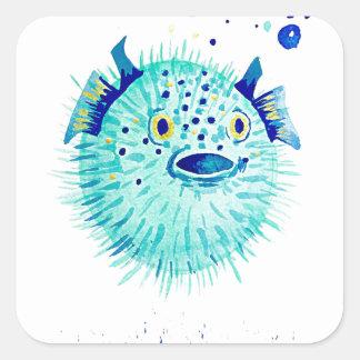 Sticker Carré Les Pufferfish de Neptune