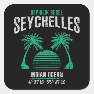 Sticker Carré Les Seychelles