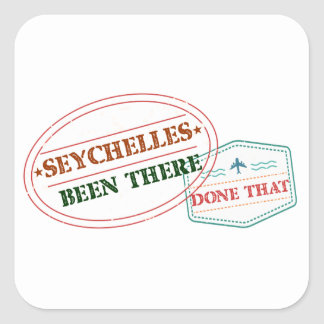 Sticker Carré Les Seychelles là fait cela